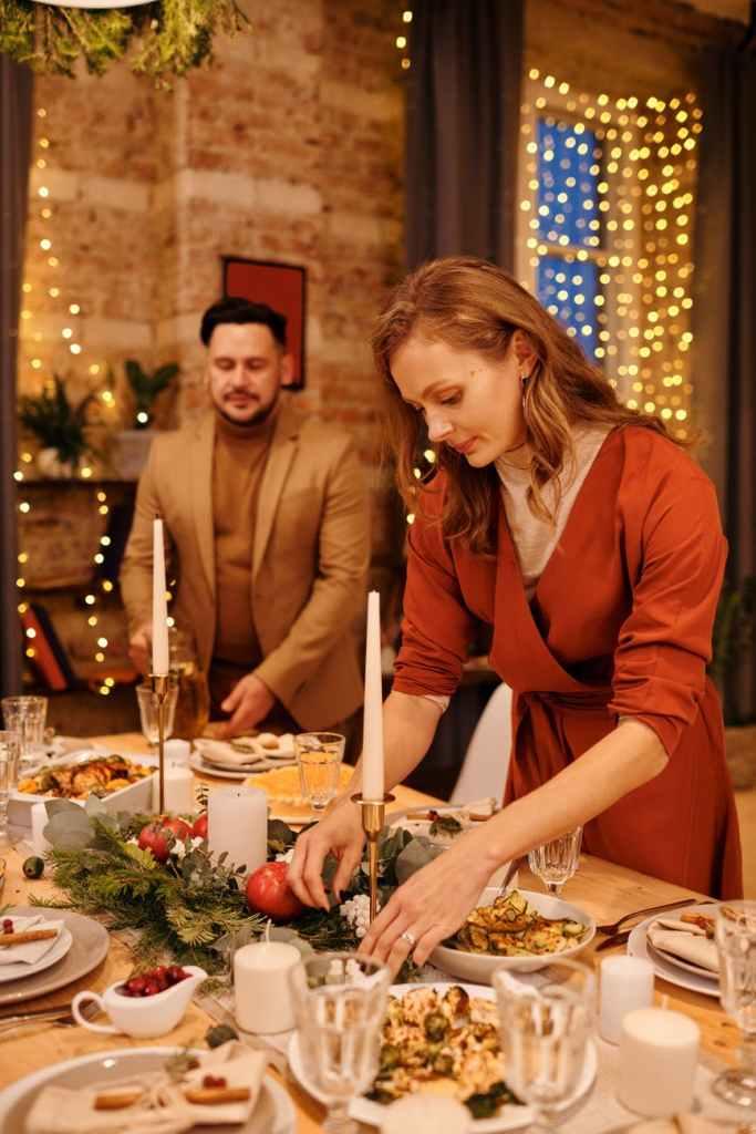Sad Christmas dinner