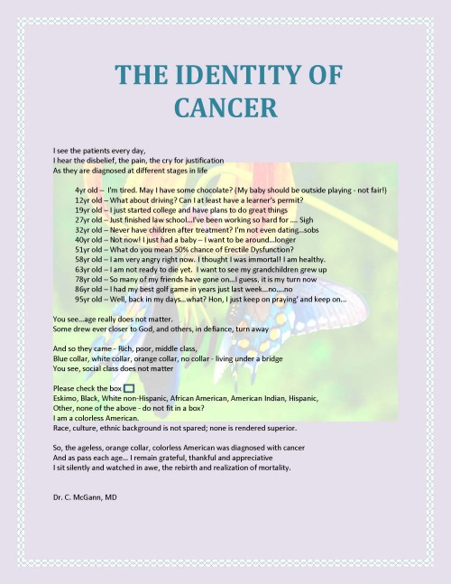 identity of cancer