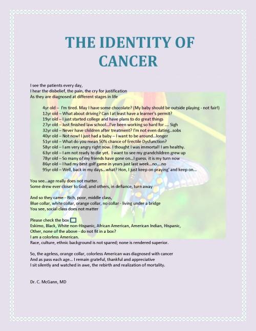 identity of cancer