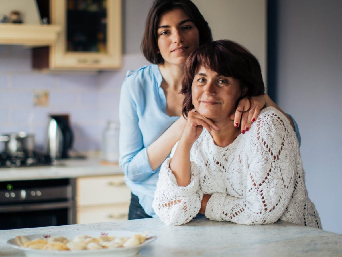 Mother and daughter discussing cervical cancer